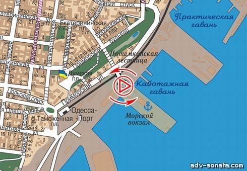 54182 Бэк-лайт в г. Одесса Морвокзал, динамическая (Одесская область) .
