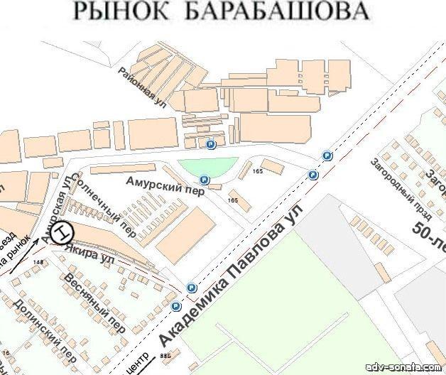 карта рынка барабашово