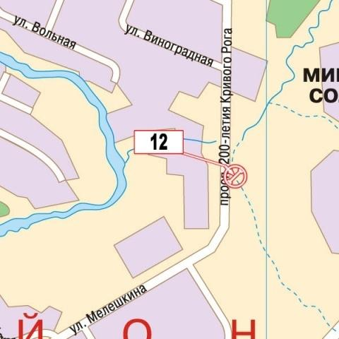 Карта плоскости 30024.  Кривой Рог, пр. 200 лет Кривому Рогу, АЗС.