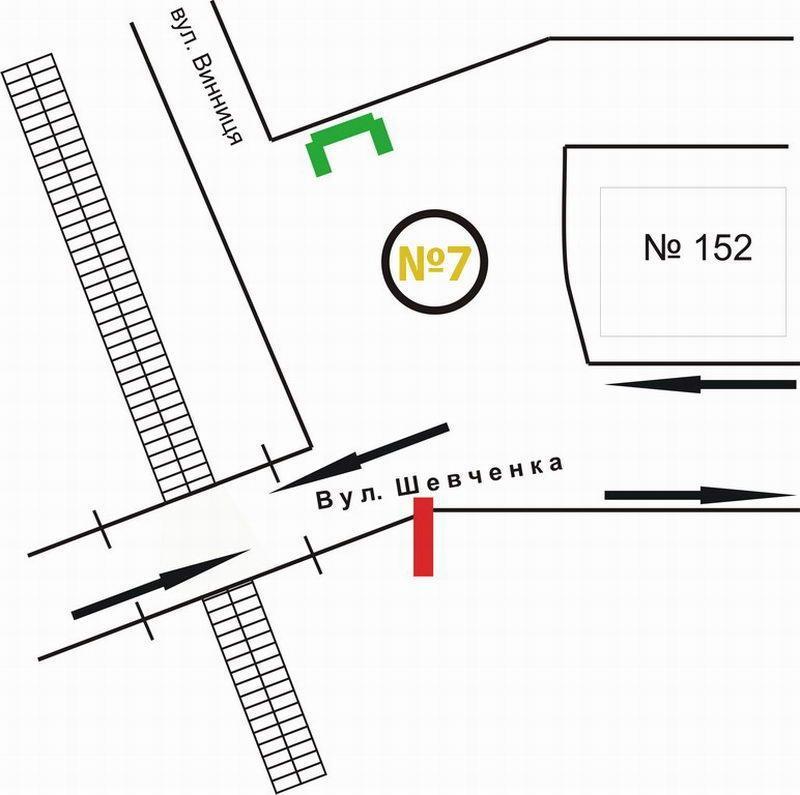 ...A-99694, Львов, Шевченко ул. (переезд через мост, конечная остановка трамвая 7), к центру, бигборд, схема.