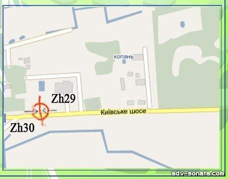 Киевское шоссе 131 - Схема.