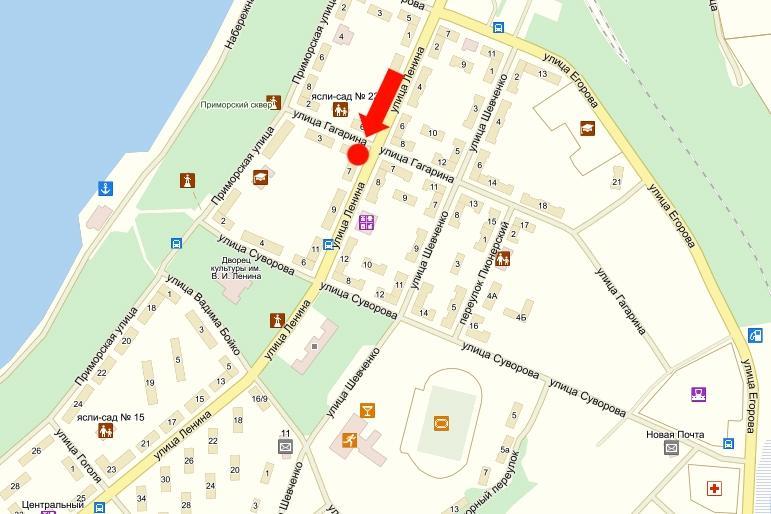 карта светловодска с улицами